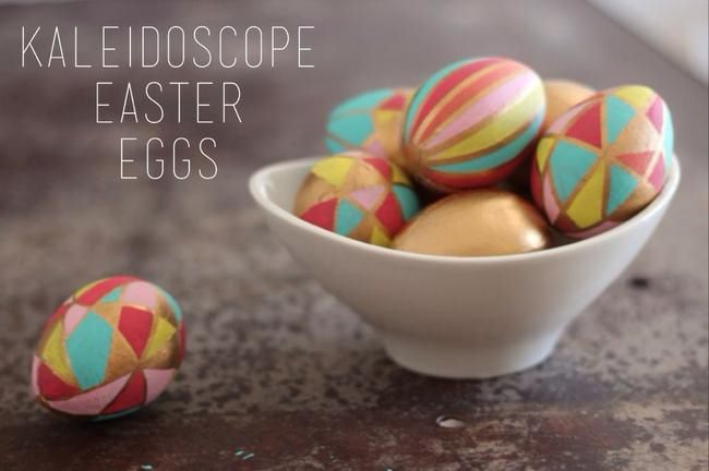 Kaleidoscope Easter Eggs