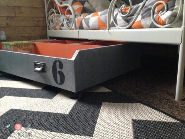 DIY Under Bed Toy Storage