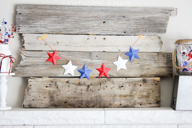 Mini 3D Star Garland