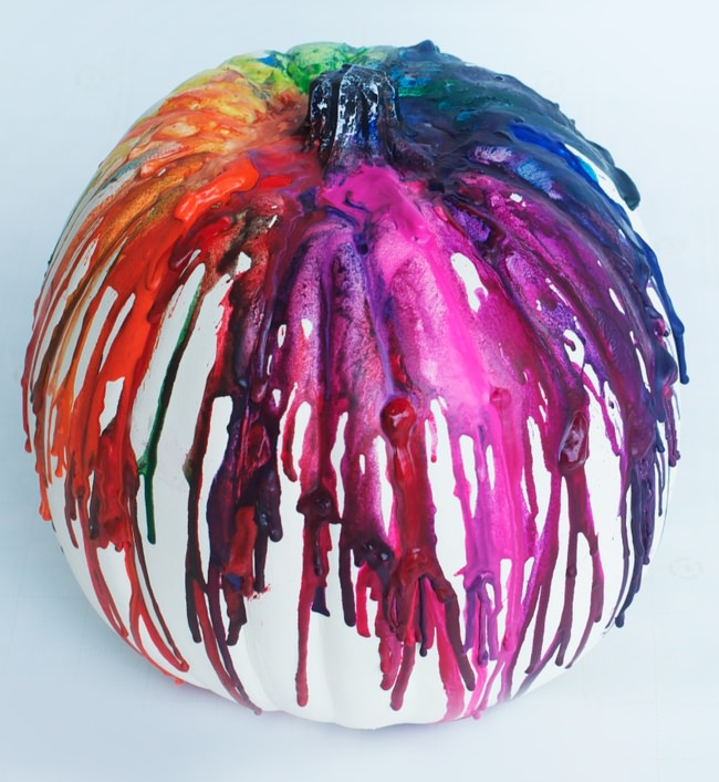 Melted Crayon Pumpkin Idea