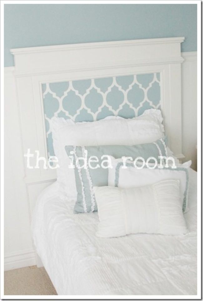 How to Make a Quatrefoil Headboard {diy headboard}