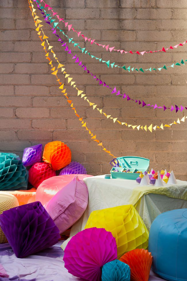 Geometric Birthday Party {diy party decor}