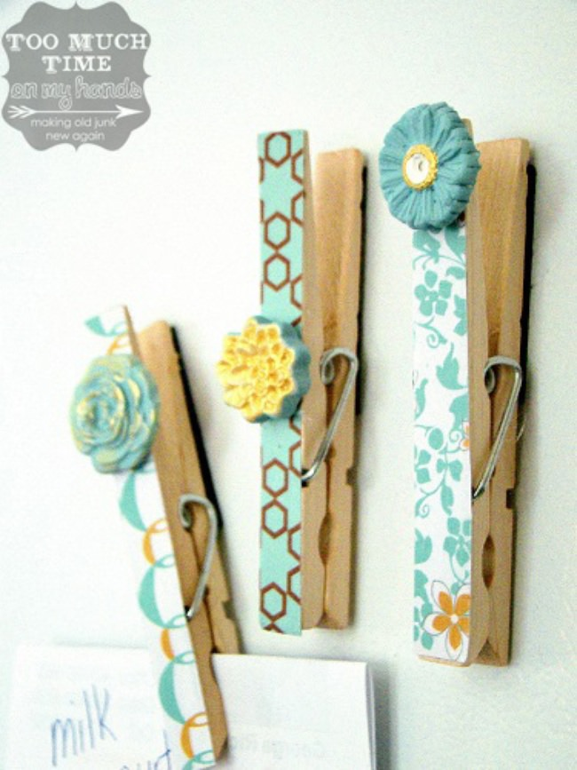 DIY Clothespin Magnets