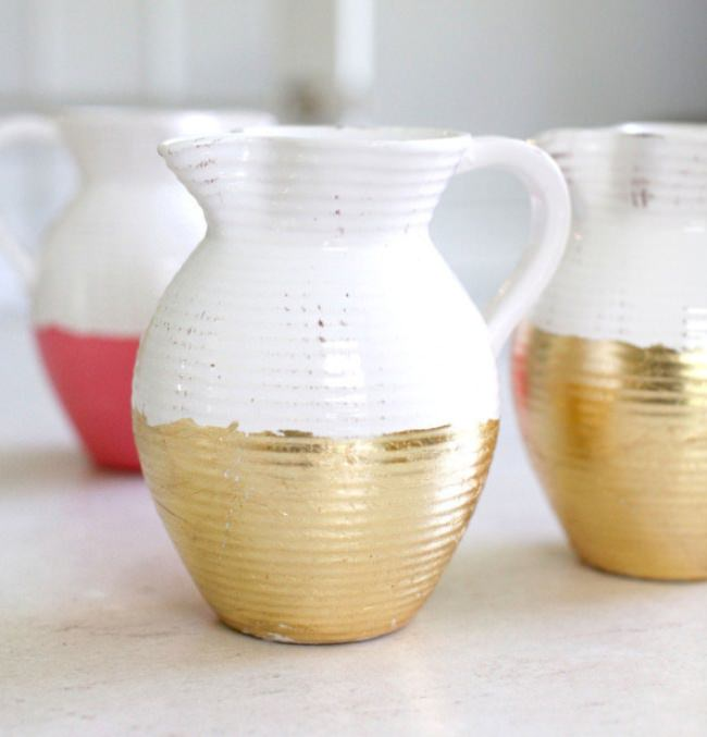 DIY Gold Pitchers