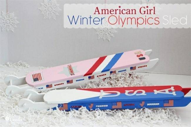 American Girl Doll Olympic Sled
