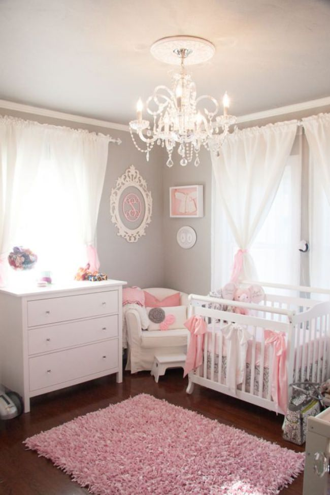 Gray & Pink Tiny Nursery