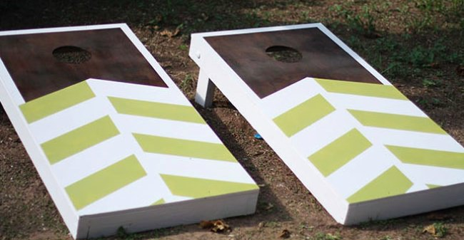 DIY Cornhole Game Set