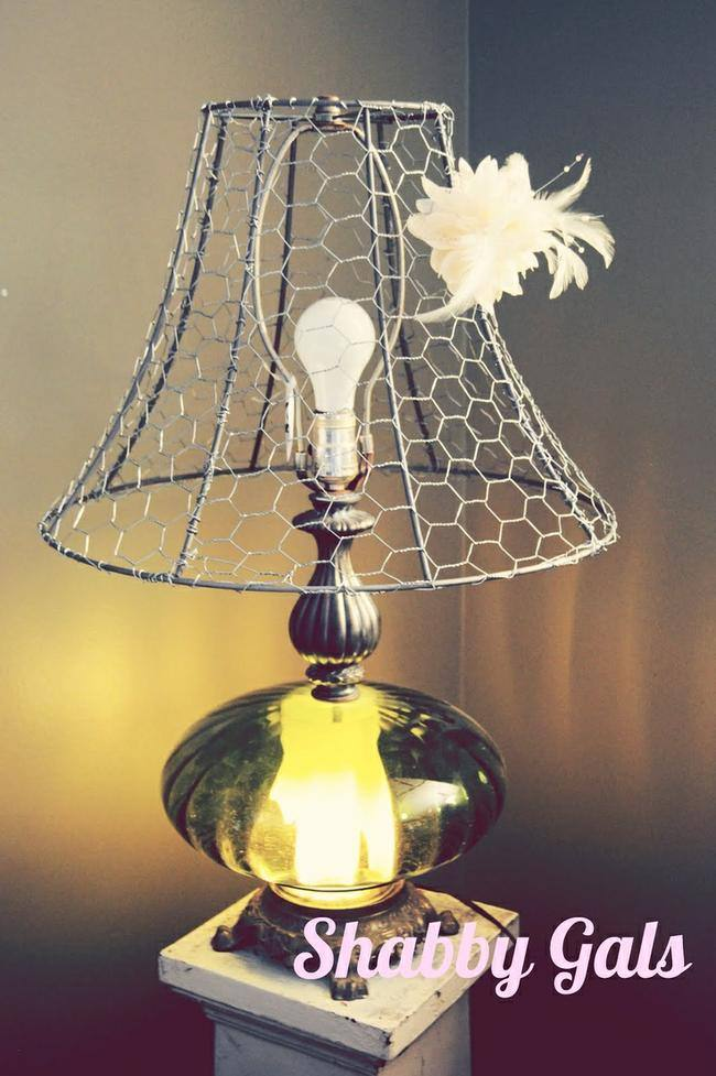 9 cool things to make with chicken wire tutorials tip junkie chicken wire lamp shade greentooth