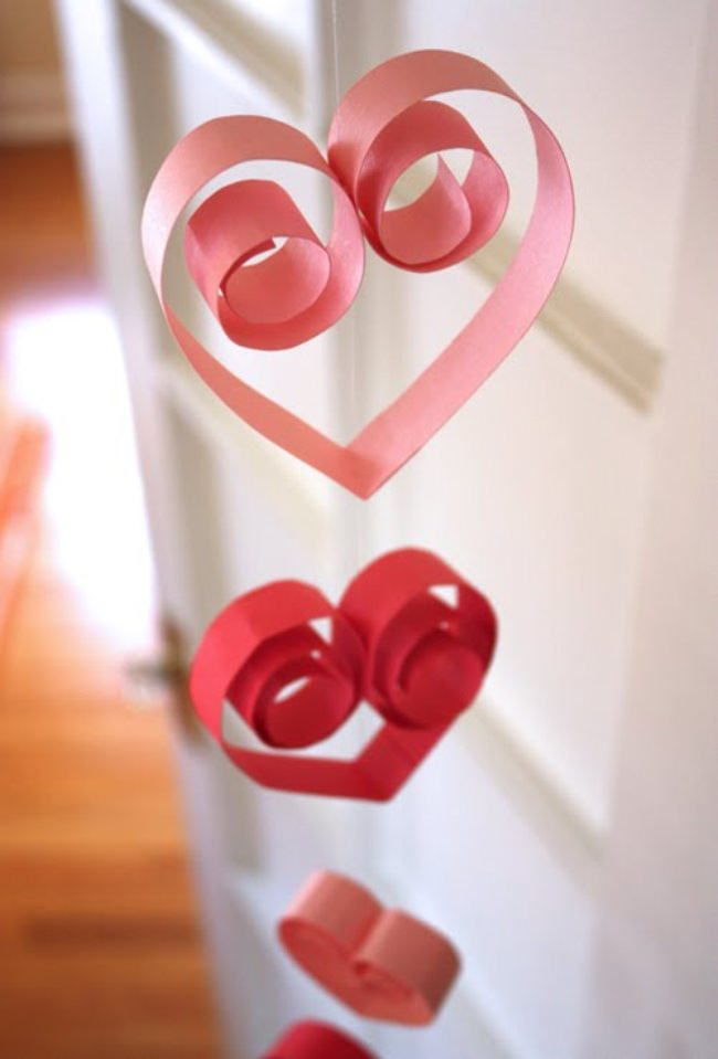 Paper Heart Garland {how-to}