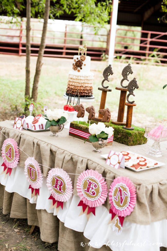 Horse Party {dessert table}