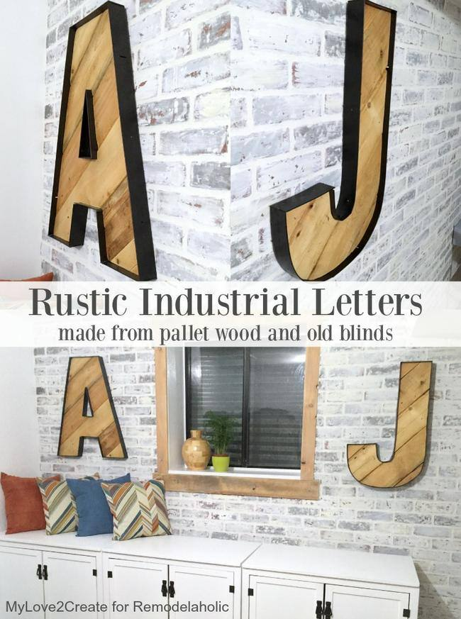 Rustic Industrial Letters
