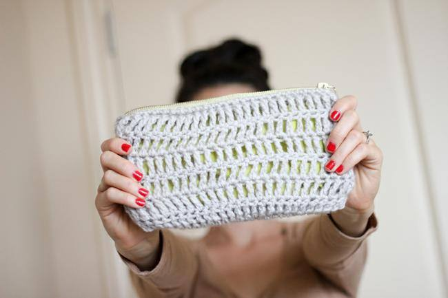 Treble Crochet Zip Pouch