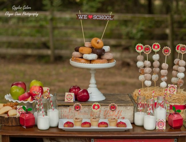 Apples and Donuts Party {back to school}