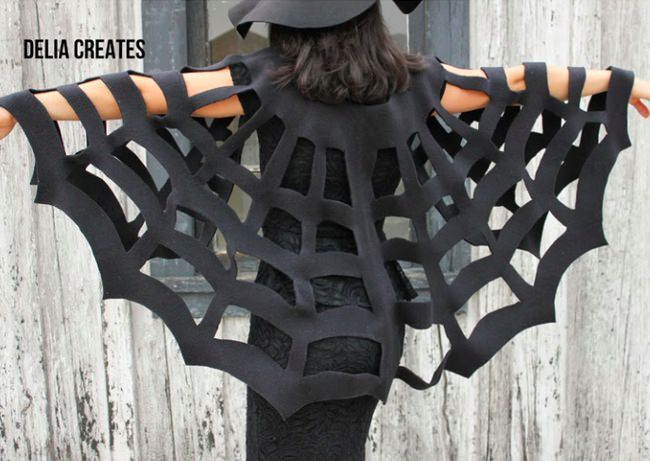 No-Sew Halloween Spiderweb Cape