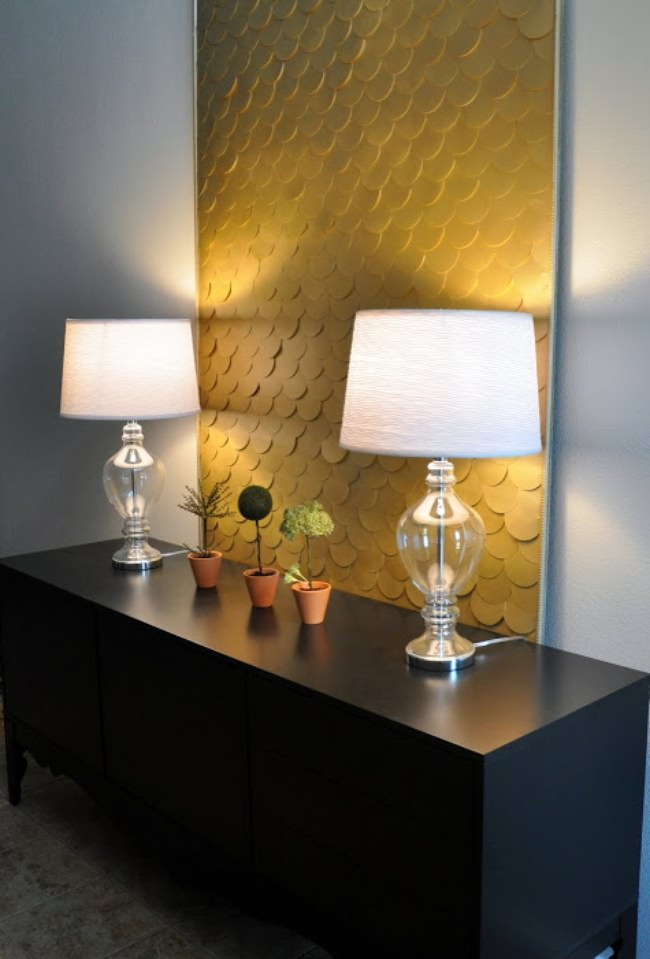 How to Create Fish Scale Wall Art {wall decor}