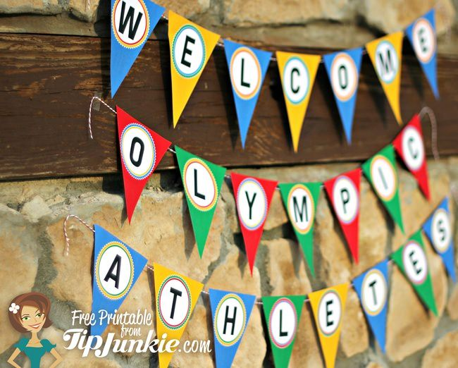 """Welcome Olympic Athletes"" Banner {free printable}"