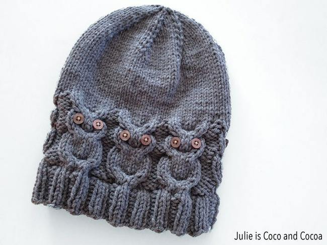 Owl Knit Hat {free pattern}