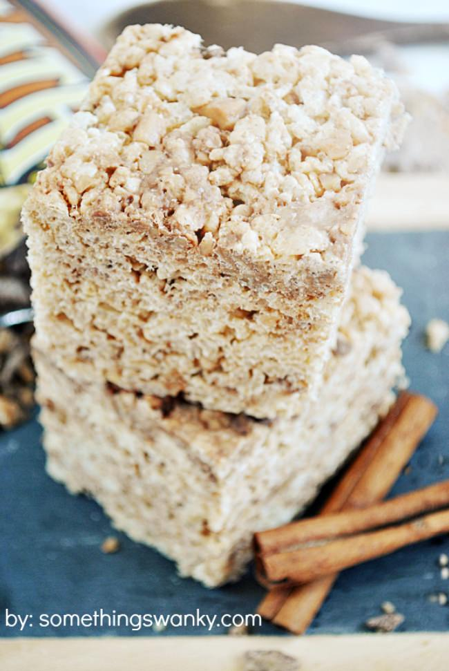 Toffee Snickerdoodle Rice Krispie Treats