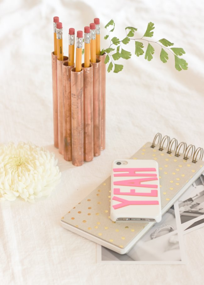 DIY Copper Pencil Holder
