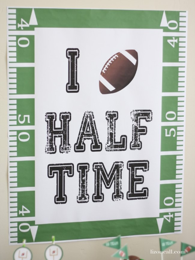 I Love Halftime Free Printable