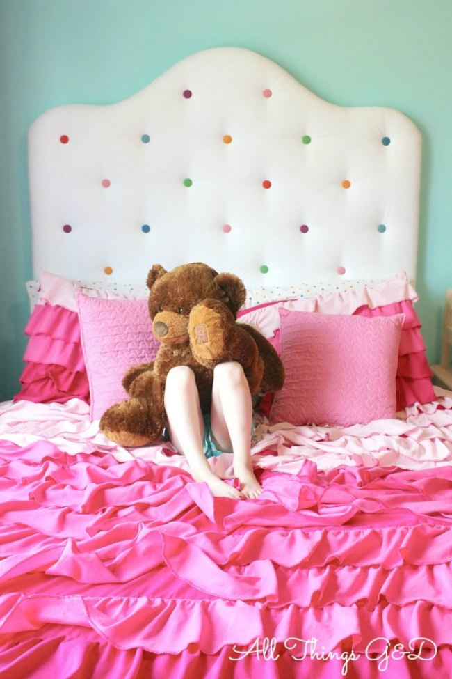 DIY Polka Dot Headboard