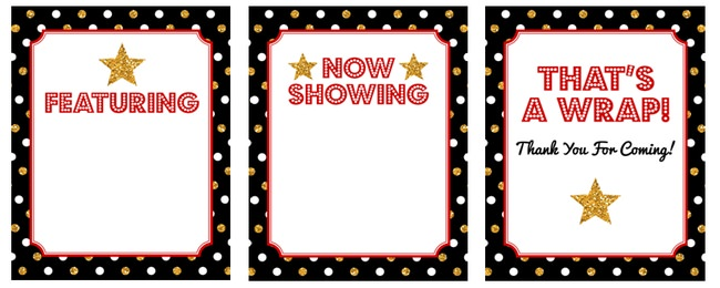 27 Hollywood Party Decorations Free Printable Tip Junkie