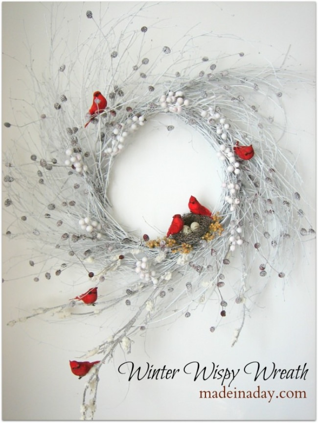 Winter Wispy Wreath
