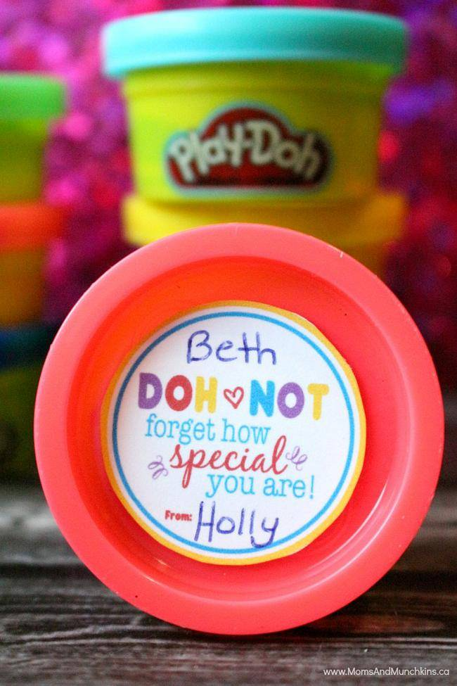 Play-Doh Valentine Printable