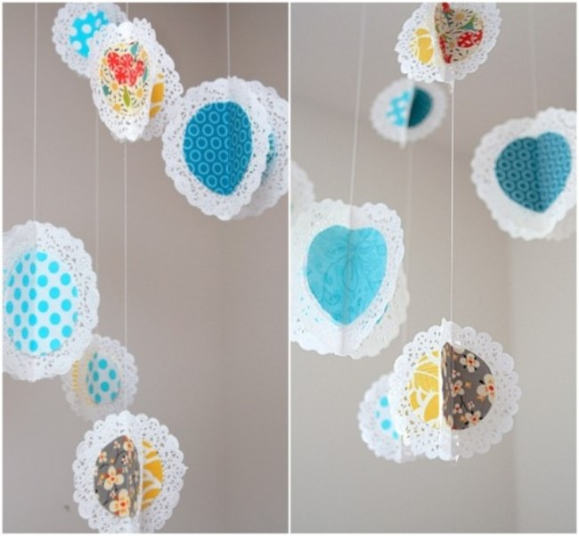 Hanging Fabric Doilies