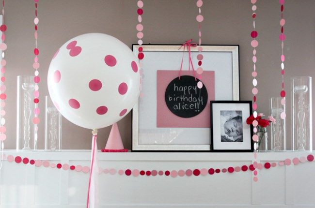 Pink Polka Dot Pattern Party