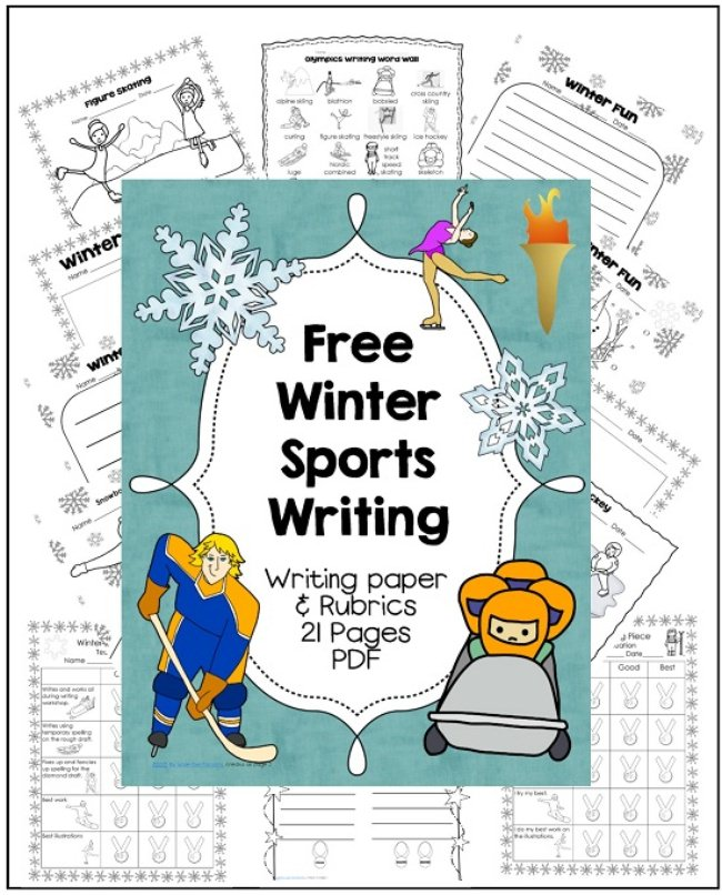 Winter Sports Writing {free printables}