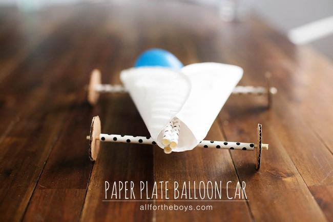 Paper Plate Balloon Car
