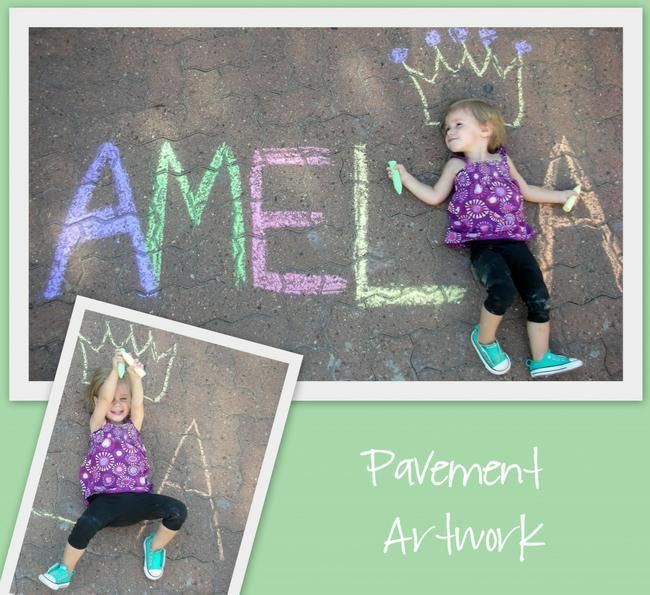Name Sidewalk Chalk Art