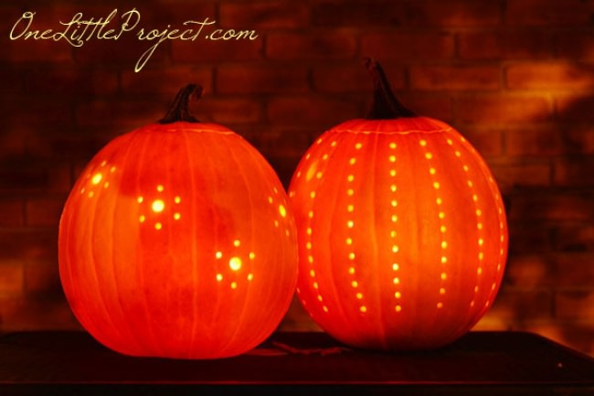 Easy Drilled Pumpkins Tutorial
