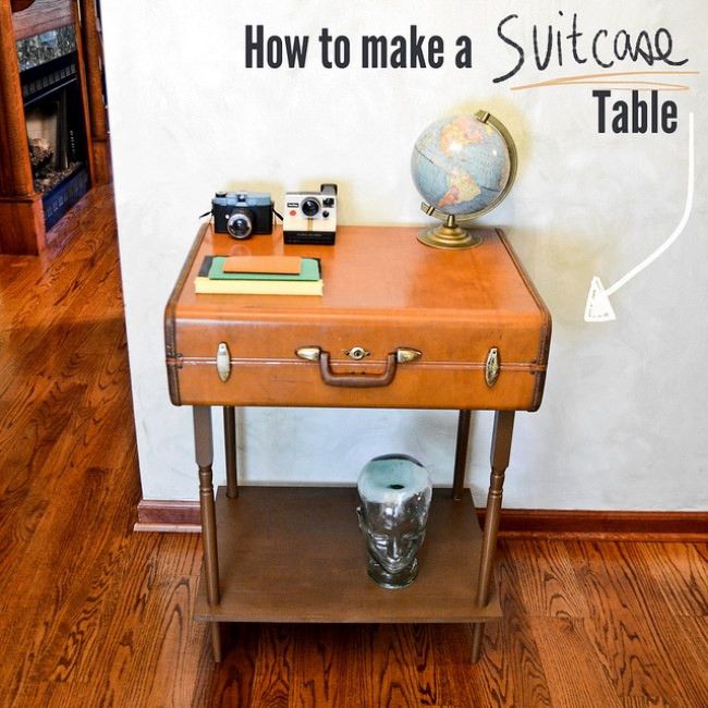 How to Make a Suitcase Table
