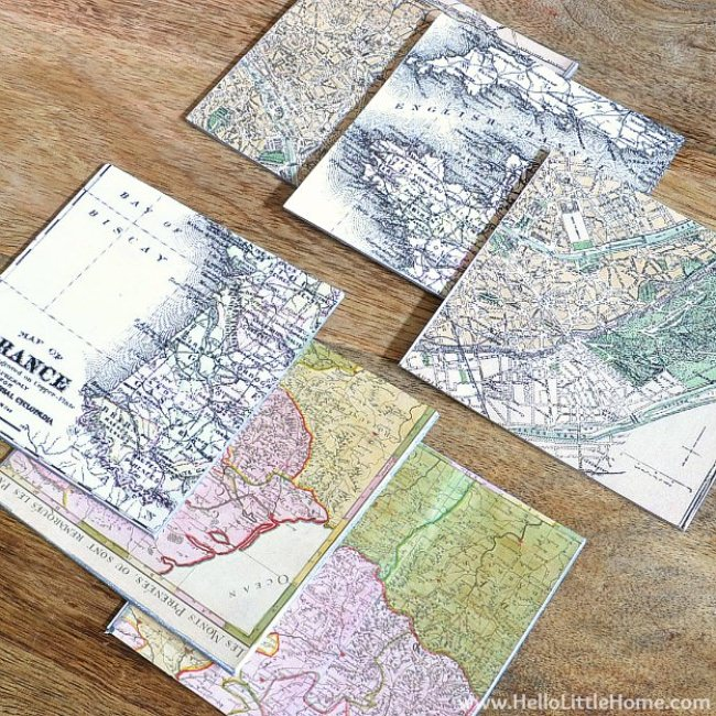 Vintage French Map Coasters