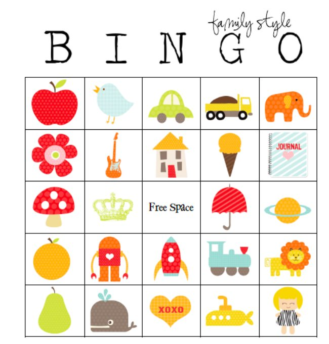 bingo card templates