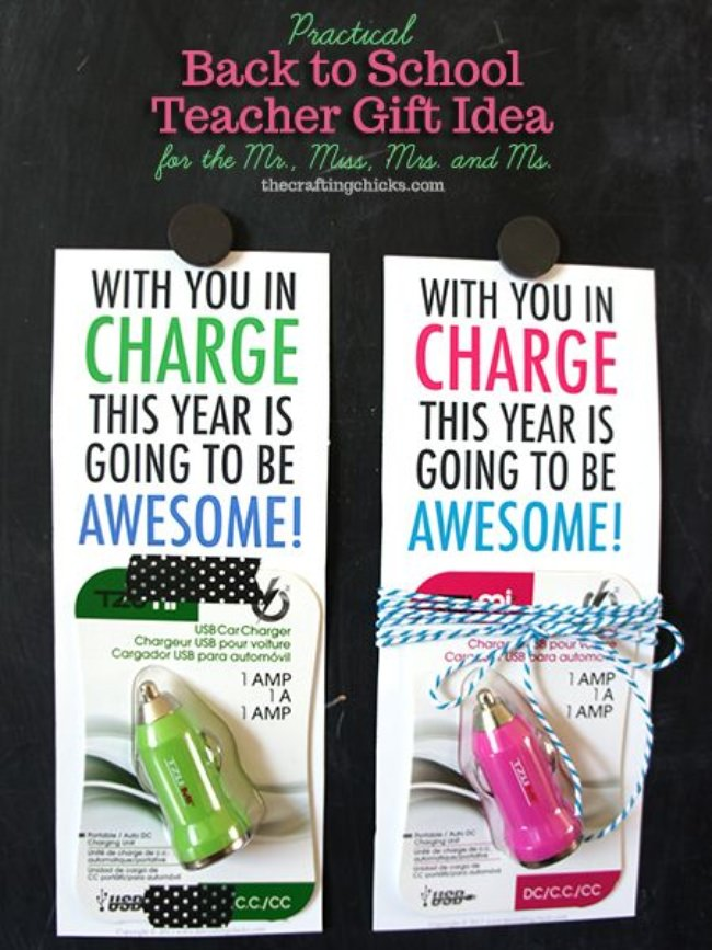 USB Charger Teacher Gift