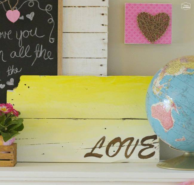 diy ombre pallet sign