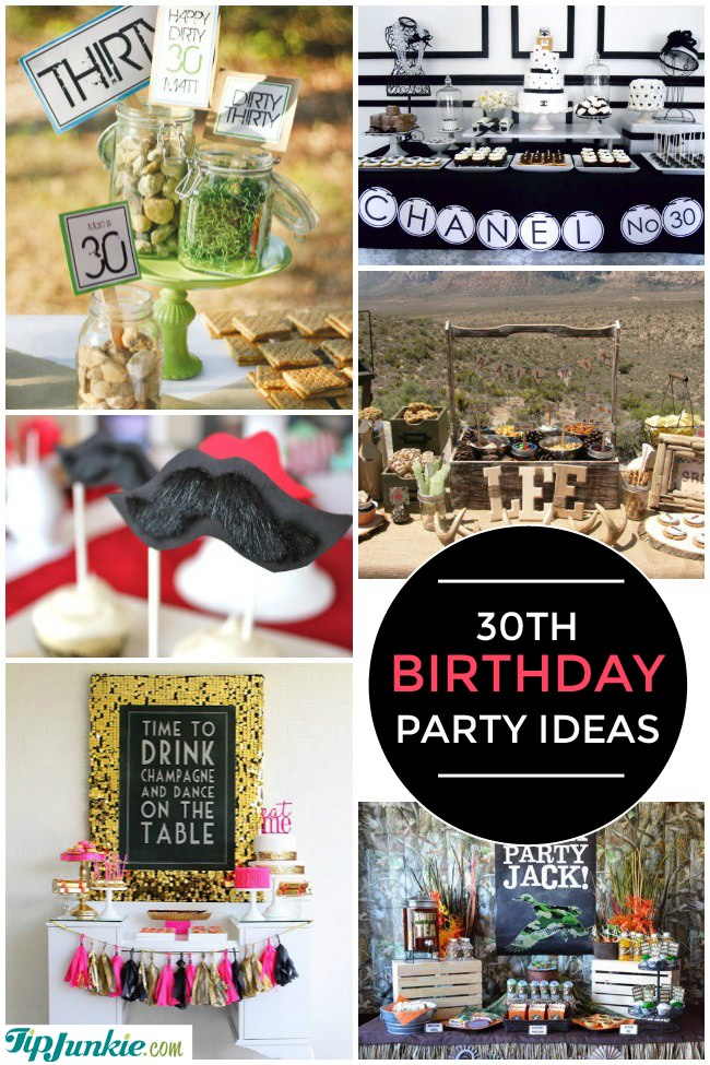 28 amazing 30th birthday party ideas also 20th 40th for 30th birthday party decoration