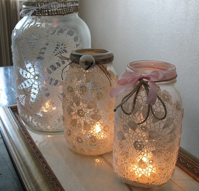 Doily Luminaries