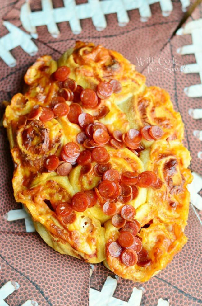 Football Pizza Pinwheels