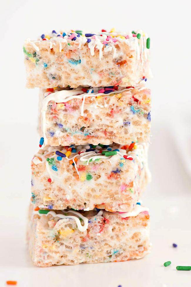Confetti Rice Krispy Treats