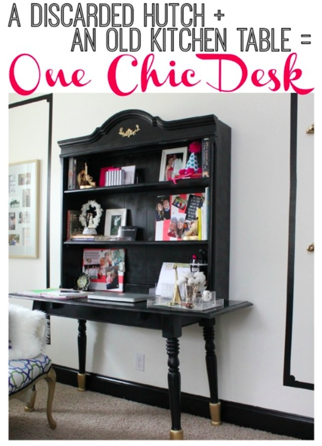 build a desk using furniture you already have-png