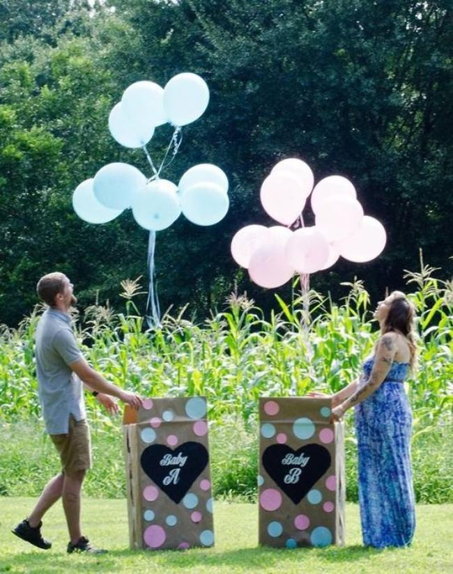 Color Powder Gender Reveal >> 24 Gender Reveal Ideas for Pregnancy Announcements – Tip ...