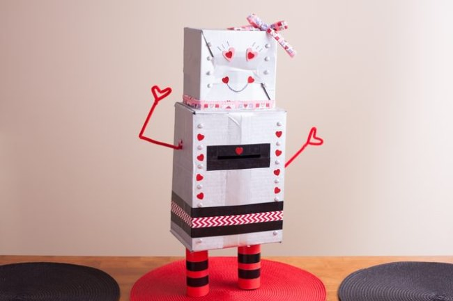 Robot Valentine Holder
