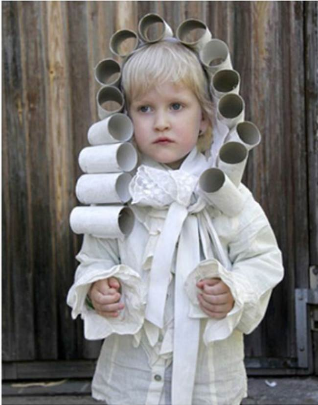 Toilet Paper Roll Wig