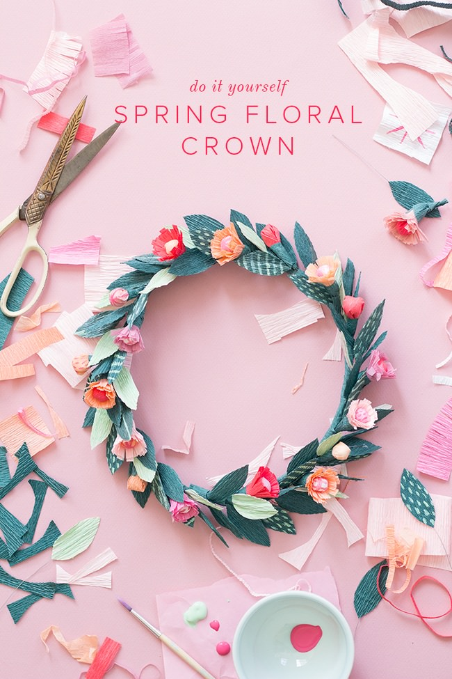 DIY Spring Floral Crown