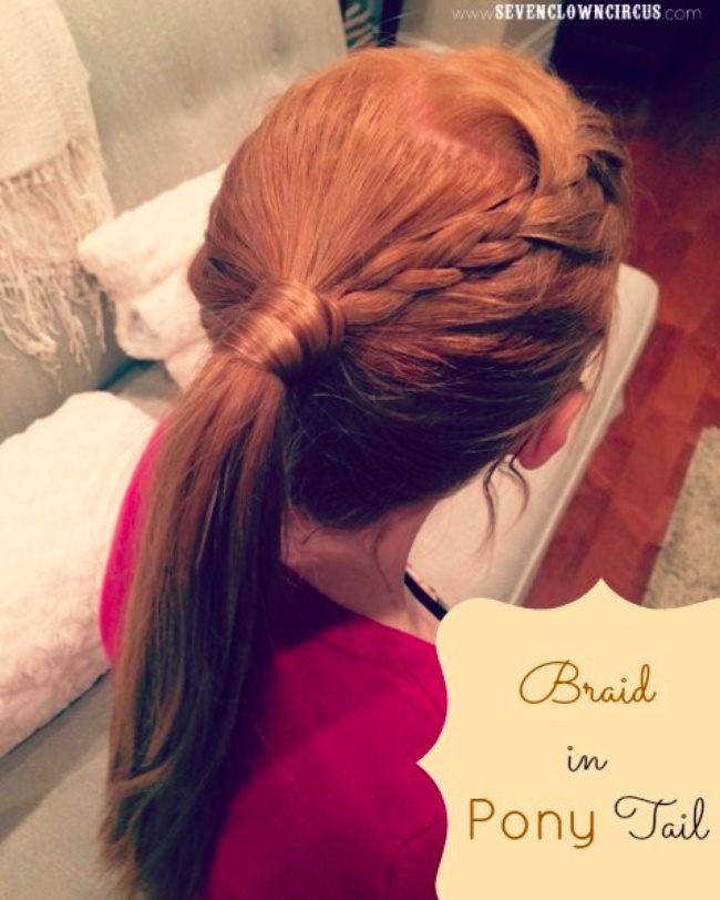 braid in a pony tail hairstyle