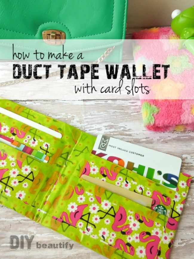 How to Make a Duct Tape Wallet with Slots